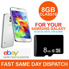 8GB micro SD TF Card Class 10 For Samsung Galaxy S3 S4 S5, Note Mini Tab Tablet