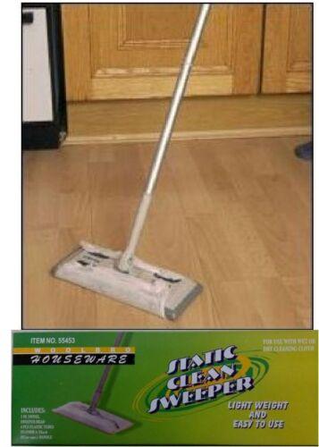 Statico Sweeper Mop LUCE SPOLVERARE GIREVOLI DUSTER Con Micro Fibra SALVIETTE 4107
