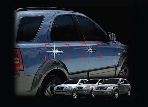 For Kia Sorento 2003-2009 Chrome Exterior Door Handle Trim Cover Set
