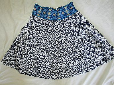 Best Price NEW 89 urban outfitter sister jane size s small twirl blue white womens skirt