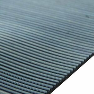 3mm Grooved Anti Slip Rubber Matting Fine Ribbed / Squares & Strips in all sizes