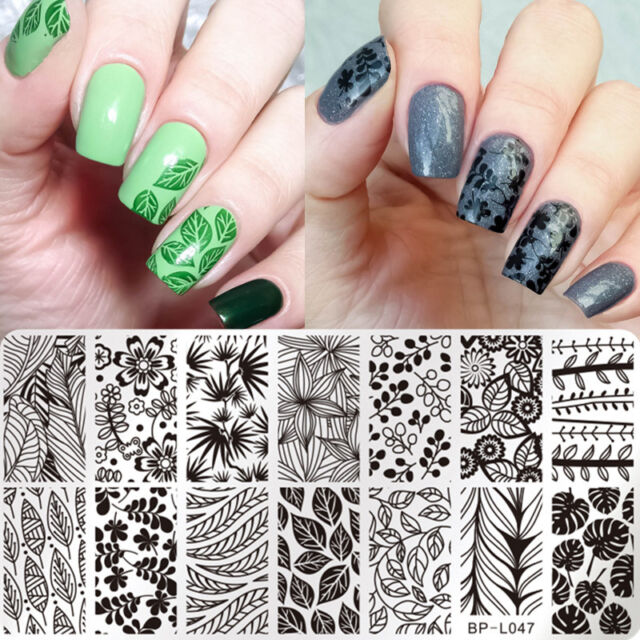 BORN PRETTY Nail Art Stamp Plate  Image Template Leaf Style BP-L047