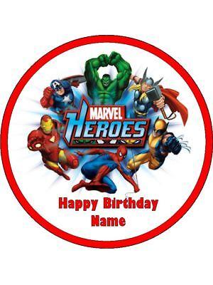 Amazing Avengers 19Cm Edible Cake Topper Wafer Paper 12 Birthday Cupcake Funny Birthday Cards Online Unhofree Goldxyz