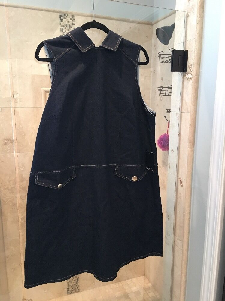 Eloquii NEW bluee Women's Size 14 Denim Peterpan Collar Sheath Dress  110  DEAL