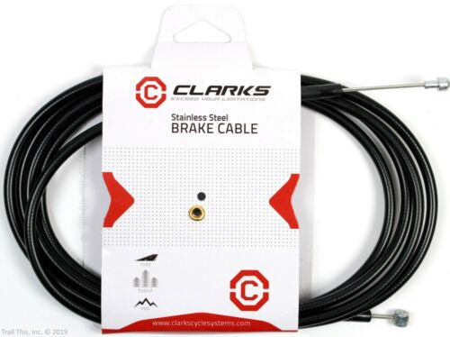 1 or 2 Pack Clarks Universal MTB//Road Bike Stainless Steel Brake Cable /& Housing