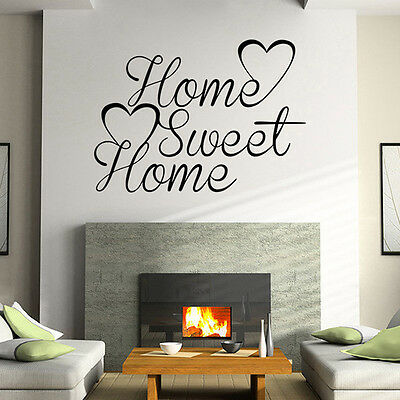 HOME SWEET HOME Quote Words Mural Removable Wall Stickers Vinyl Decal Home Decor