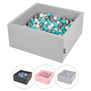 Kiddymoon New Soft Baby Ball Pit Foam Square 90x40 With