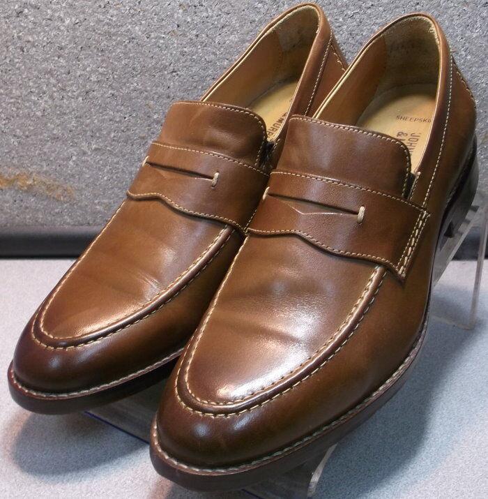 209592 PF50 para hombres zapatos talla 8.5 M Mocasines Cuero Tostado Johnston & Murphy