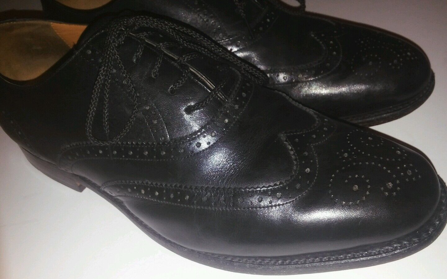 Florsheim shoes Imperial Classic Wing Tip 10.5 3E Leather Black