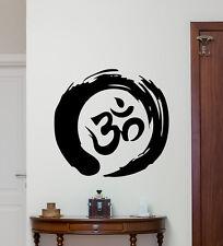 Zen Circle Om Symbol Wall Decal Yoga Vinyl Sticker Bedroom Decor Poster 179hor