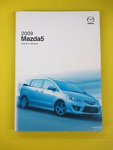 mazda5 mazda 5 09 2009 mazda owners owner s manual genuine oem ebay rh ebay com 2009 mazda mx-5 owners manual Inside Mazda 5 2009