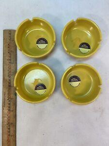 melamine midcentury MCM yellow ashtray FREE SHIPPING