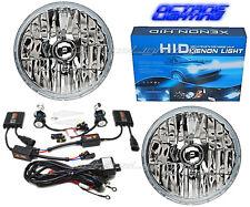 "Jeep Wrangler 7"" Crystal Headlight 10k Ice Blue HID Light Bulb Headlamp Kit Pair"