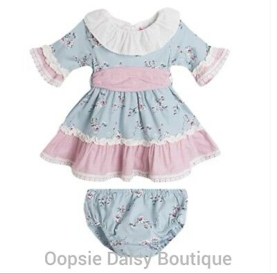 Girls Spanish Pink /& Blue Florence Dress Sets upto 24mths ☆