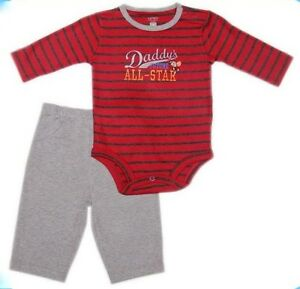 Carter-s-2-pc-Bodysuit-amp-Pull-On-Pants-Set-Daddy-s-Future-All-Star-034-6-mos