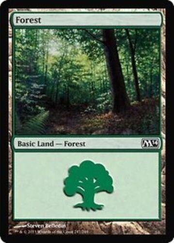 4x FORESTA FOREST #247 Magic M14 Mint