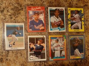 7-David-Justice-1990-Leaf-Upper-Donruss-Fleer-Topps-Rookie-card-lot-RC-Braves