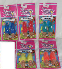 Treasure Trolls Doll Earrings Vintage New Old Stock Ace Novelty *New On Card*