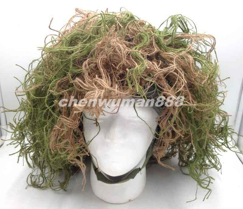 TACTICAL OUTDOOR 3D CAMO HUNTING QUIET jungle CAMOUFLAGE  GHILLIE M88 HELMET SET  with 100% quality and %100 service