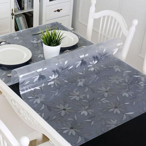 PVC NAPPE PLASTIQUE étanche Transparent Nappe Table de salle à manger clothpvc