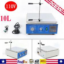 10l Magnetic Stirrer Hot Plate Dual Controls Heating Stirring Holder Laboratory