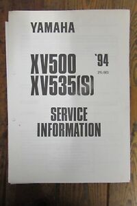 Details about 1994 YAMAHA XV500 XV535 S SERVICE INFORMATION + WIRING on