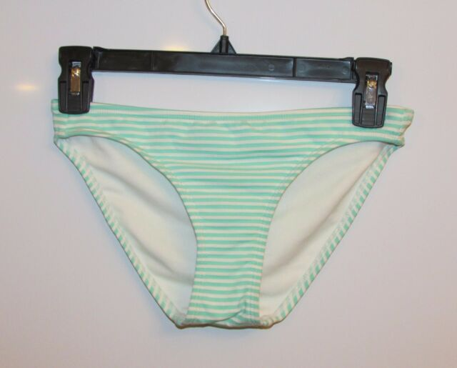03f26d480 Xhilaration MINT Green & White Striped Bikini Hipster Swim Bottom XS ...