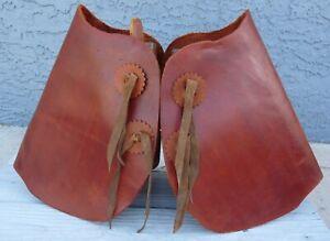 Handmade Leather Tapaderos Stirrups