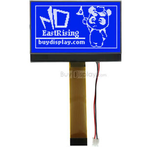 Image is loading 2-9-034-128x64-Blue-COG-LCD-Module-