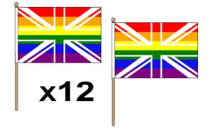 3/' x 2/' Rainbow Union Jack Flag LGBT Gay Pride Festival United Kingdom Banner