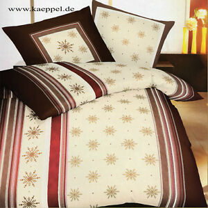 kaeppel biber bettw sche sterne beige braun 135 x 200 cm baumwolle ebay. Black Bedroom Furniture Sets. Home Design Ideas