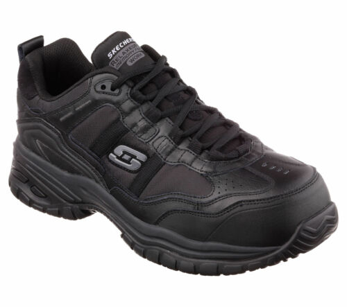 77013 Skechers Men's SOFT STRIDE-GRINNELL Work Shoes Composite Toe Black free shipping