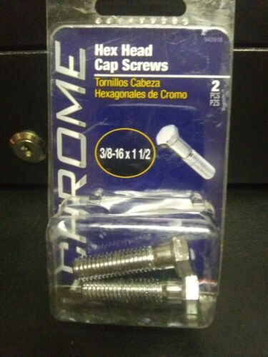 Hillman Chrome Hex Head Cap Screws 3//8-16 × 1 1//2 Part Number 943918