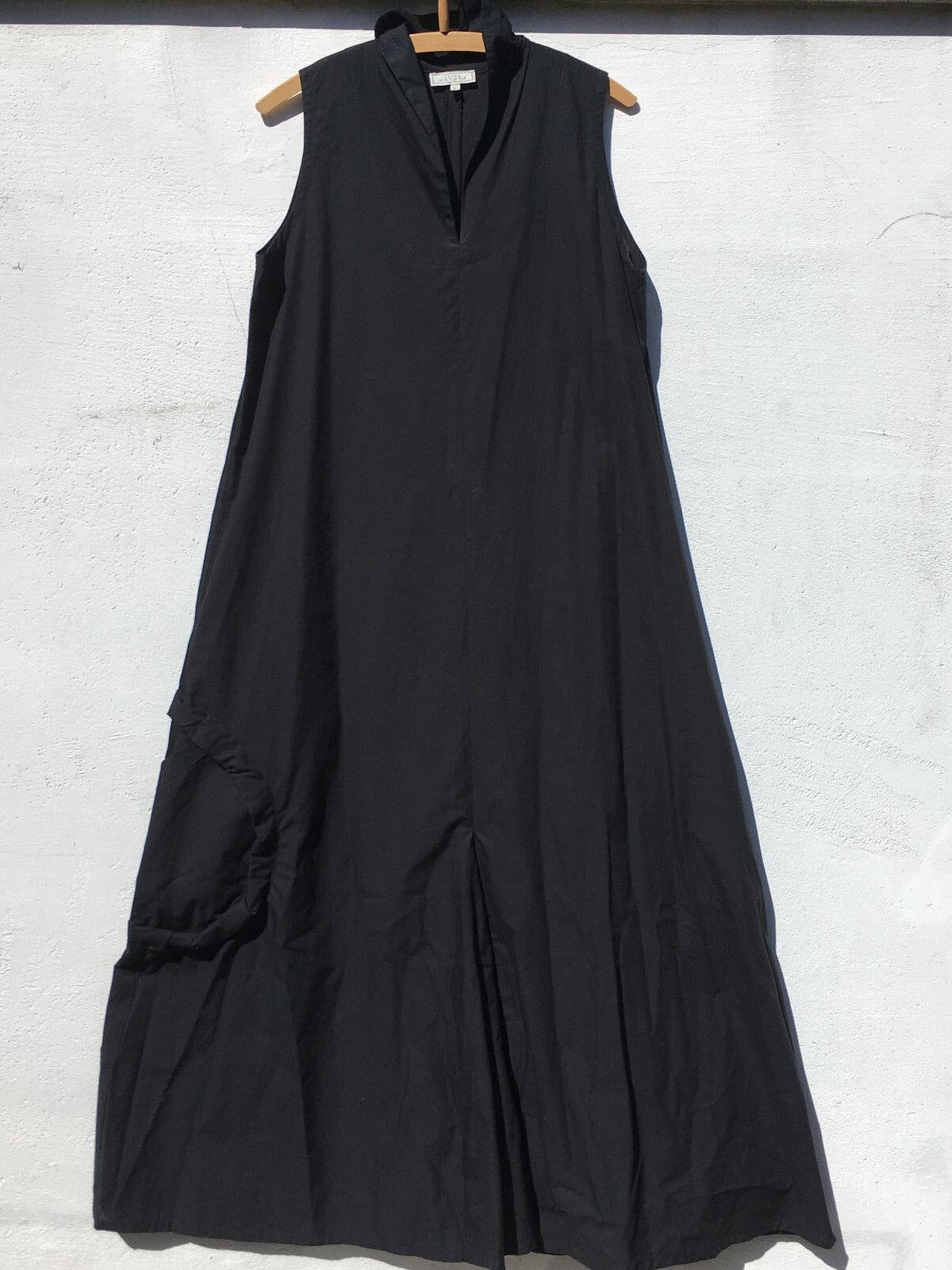 Langes zeitloses Kleid TUTTA NATURA Sommerkleid schwarz ärmellos Größe L