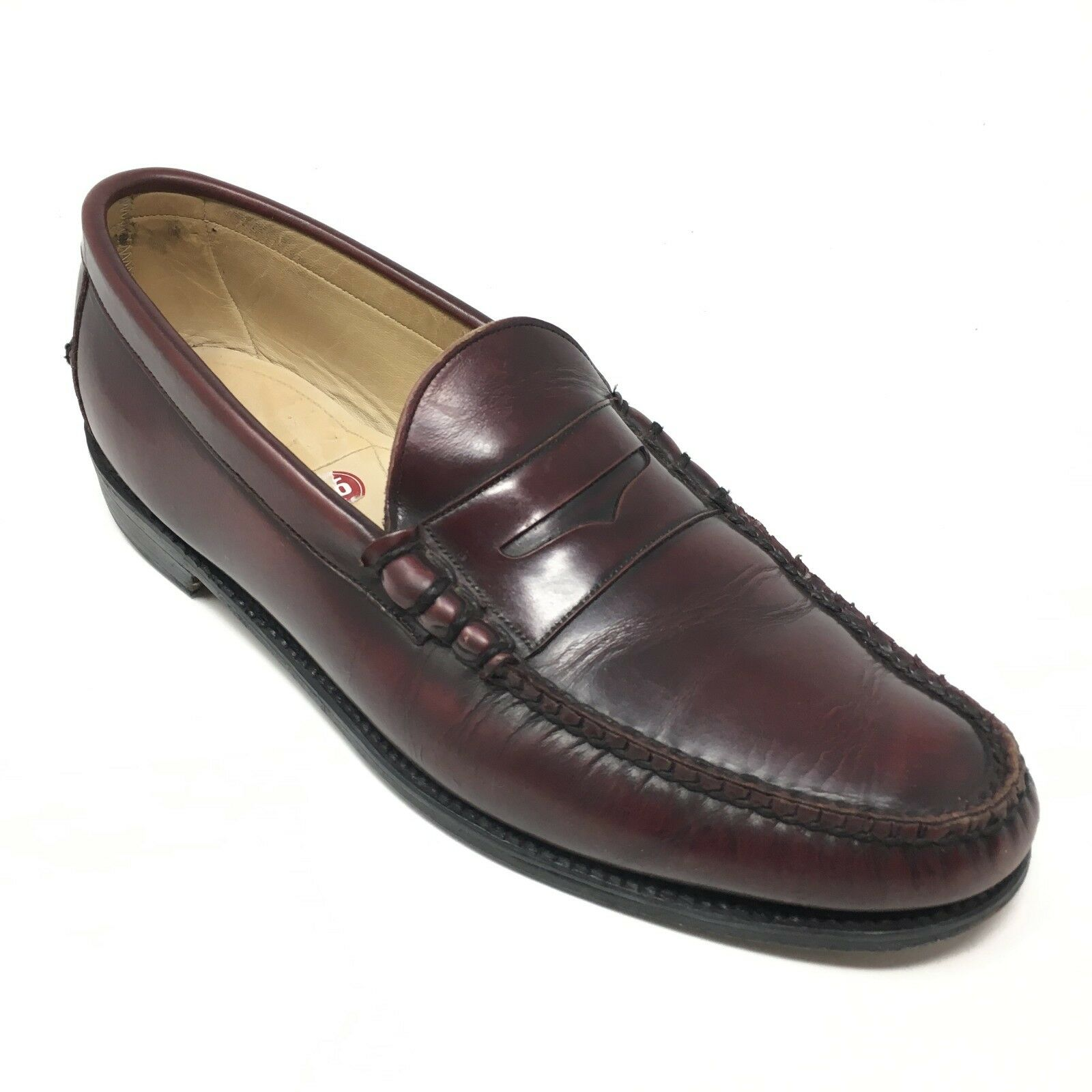 Men's Florsheim Royal Imperial Size 9.5C Loafers shoes Burgundy Made  K7