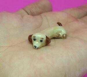 Dachshund-dogs-puppy-Miniature-Handmade-Collectible-Ceramic-figurine