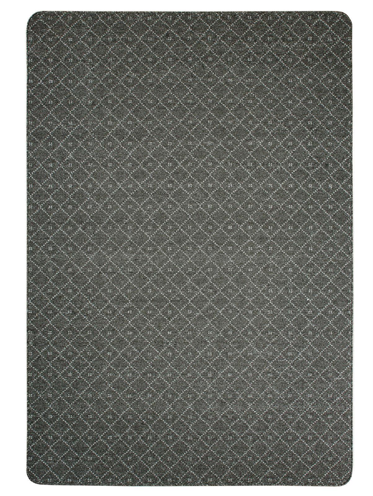 Teppich Kurzflor Hochwertig Rutschfest Ariston-Dunkelgrau 120 140 160 200