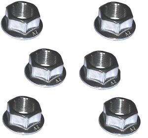 Rear Sprocket Nuts (x6) - A2 Stainless -  Yamaha XJR1300