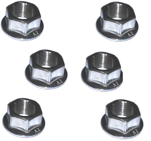 Rear Sprocket Nuts x6 Suzuki GSXR1000 - A2 Stainless