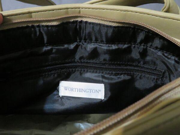 Nuova Annata Worthington Borsa A Spalla ~pochette~ Organizer Taupe Similpelle
