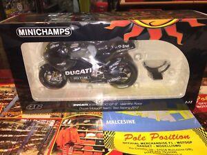 1:12 Minichamps Ducati Motogp 2012 Sepang V. Test Rossi Nouveau navire. Rare dans le monde