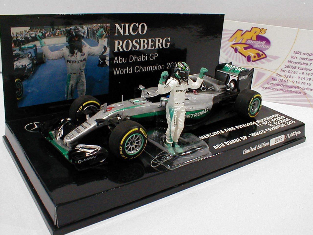 Minichamps 410160806 - Mercedes F1 F1 F1 W07 Hybrid Nr. 6 Abu Dhabi 2016 Rosberg 1 43 eb0
