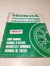 supplément manuel atelier Honda CB 250 N Deluxe 400 N CM400T Shop manual éd.81