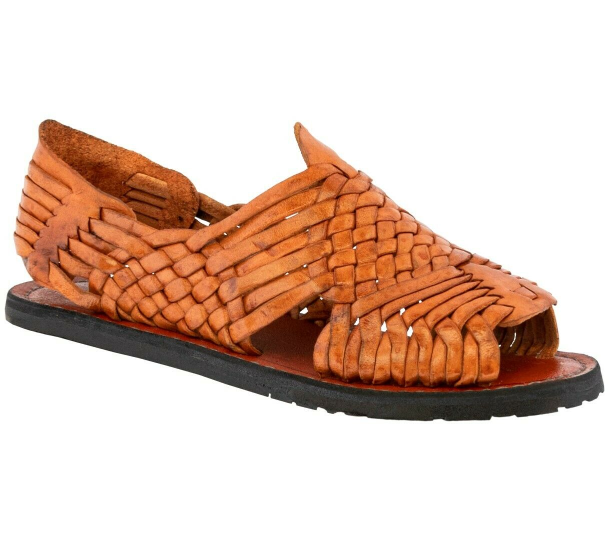 Mens Chedron Mexican Huarache Authentic Leather Sandals Handmade Slip On