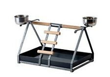 Brand New * Bird Parrot Playpen Gym Toy Stand Feeder Cup * EDP806