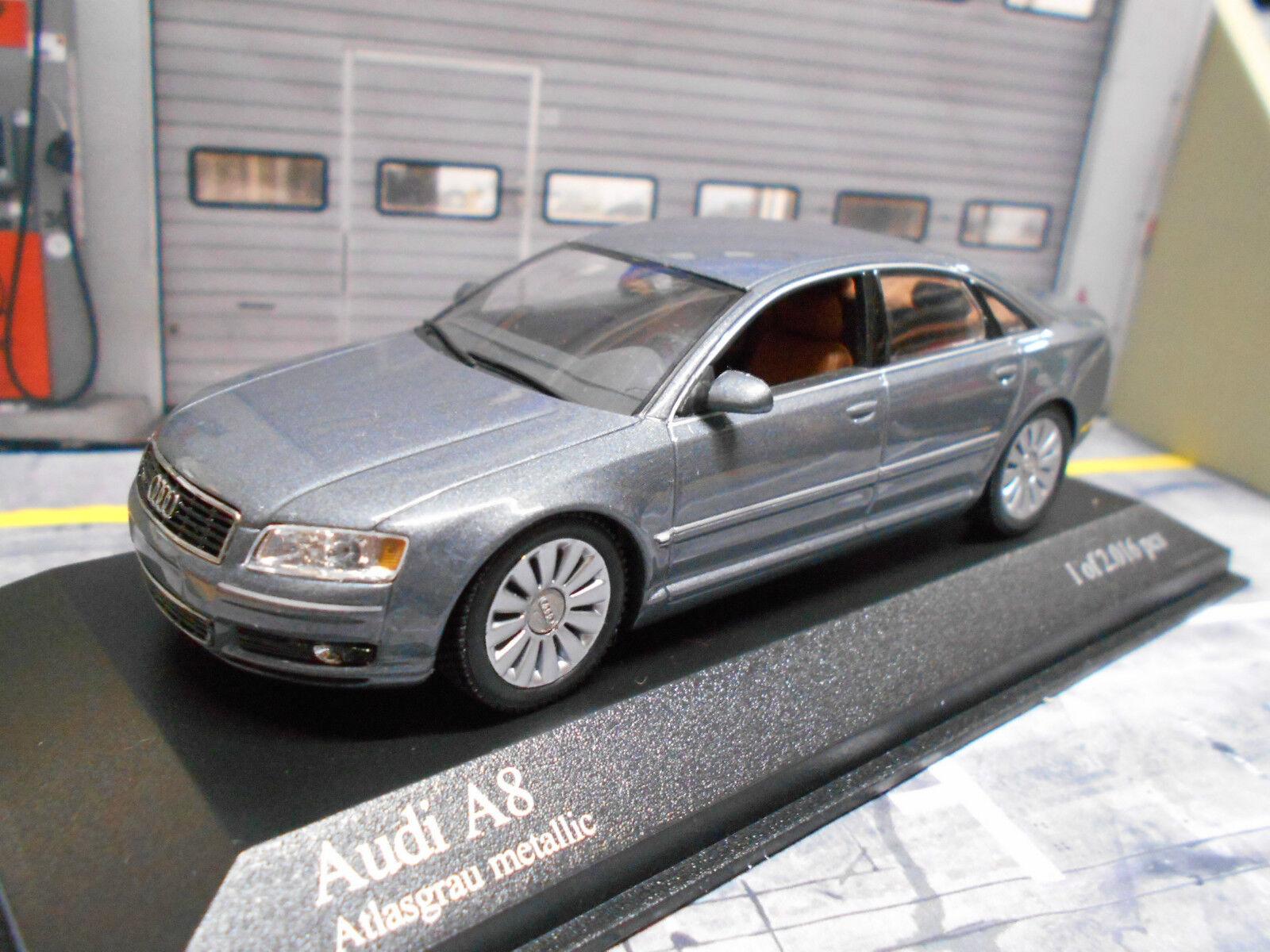 AUDI a8 berline quattro gris Met type d3 4e 2002 – 2010 rar Minichamps 1 43