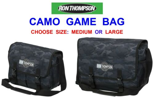 2021 RON THOMPSON CAMO GAME BAG FOR COARSE FLY ROD REEL FISHING LINE LEADERS