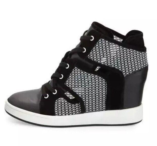 L.A.M.B 8168 Gera Con Con Con Cordones Cuña Oculta Zapatillas Negro blancoo Talla 9  tienda de venta