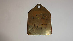 Brass-Miners-Lamp-Pay-Check-Pit-Tally-Token-Highgate-Colliery-3777