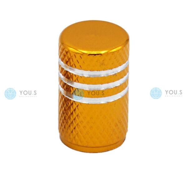 1 Pezzi You. S In Alluminio Valvola Cappuccio Oro Con Guarnizione Per Auto Pkw Lkw